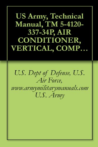 Us Army, Technical Manual, Tm 5-4120-337-34P, Air Conditioner, Vertical, Compact, Self-Contained, Ai Cooled, Electric Motor Driven, 115 V, Ac, 50/60 Hz, ... (Fsn 4120-935-1609), Military Manuals