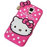 Darrel 3D Designer Cute Hello Kitty Back Cover For Samsung Galaxy S5- Pink
