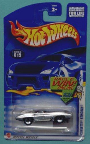 Mattel Hot Wheels 2003 1:64 Scale Silver Corvette Stingray Die Cast Car #015 - 1