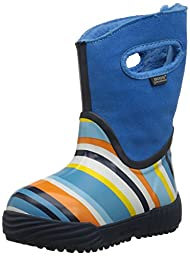 Bogs Prairie Stripes Waterproof Insulated Rain Boot (Infant/Toddler/Little Kid/Big Kid), Electric Blue/Multi