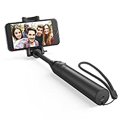 Selfie Stick, Anker Bluetooth Highly-Extendable and Compact Handheld Monopod with 20-Hour Battery Life for iPhone Se/6s/6/6 Plus, Samsung Galaxy S7/S6/Edge, Note 5/4, Nexus 6P/5X, LG G5, Moto and More