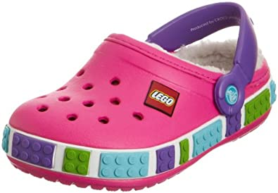 Crocs Crocband Mammoth Lego, Unisex-Child Clogs, Neon Magenta/Neon Purple, 1 UK