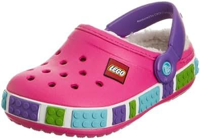 Crocs Crocband Mammoth Lego Clog K,  Sabots mixte enfant - Rose (Neon Magenta/Purple), 22-24 EU (C6-C7)