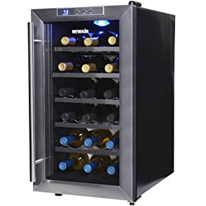 NewAir AW-181E Space Saver 18 Bottle Thermoelectric Stainless Steel Wine Cooler