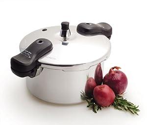 Basic Essentials 5-Quart Polished Pressure Cooker