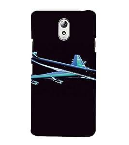 PrintVisa Aeroplane Travel Design 3D Hard Polycarbonate Designer Back Case Cover for Lenovo Vibe P1M