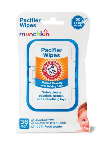 Imagen de Munchkin 36 paquete Arm and Hammer Pacifier Wipes, Blanco