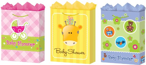 Ddi 1281127 Jumbo Baby Shower Gift Bags - Matte Case Of 24 front-993349