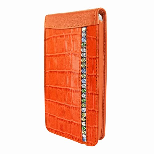 Great Sale Apple iPhone 5 / 5S Piel Frama Orange Swarovski Crocodile Magnetic Leather Cover