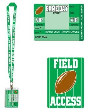 Game Day Football Party Pass 25in. Pkg/12