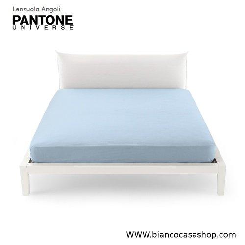 Lenzuolo Sotto con angoli MATRIMONIALE Bassetti PANTONE Universe Var.1319 Dream Blue (Azzurro)