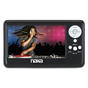Naxa NT-401 4.3-Inch Digital LCD Television with FM Radio and SD/MMC Card Slot