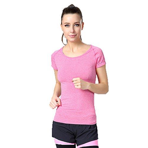 (ロラタ) Lorata レディース 吸汗速乾 スポーツ サイクリング・ランニング・トレーニング・ジョギング・フィットネス・ヨガ 半袖 速乾性シャツ
