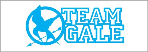 Hunger Games Team Gale Mocking Jay Sticker Decal. Blue