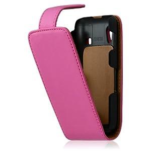 Housse coque étui pour Samsung S5830 Galaxy Ace couleur rose + film