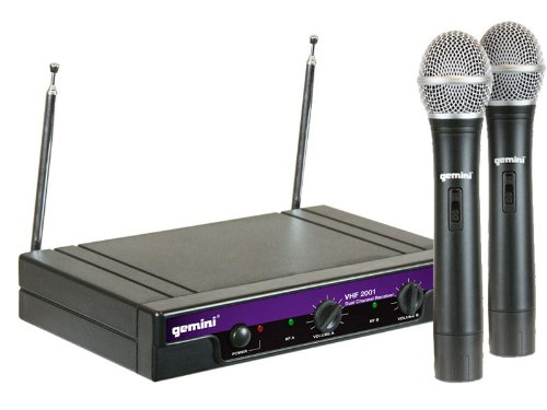 Gemini Dj Vhf2001Ms26 Handheld Wireless Microphone