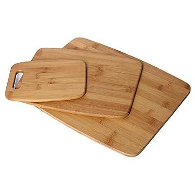 Chef Essential Bamboo 3 Piece Cutting Board Set