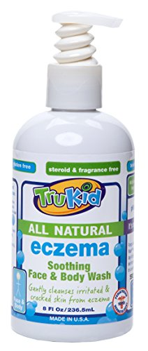 TruKid Eczema Soothing Face and Body Wash, Unscented, 8 Ounce - 1