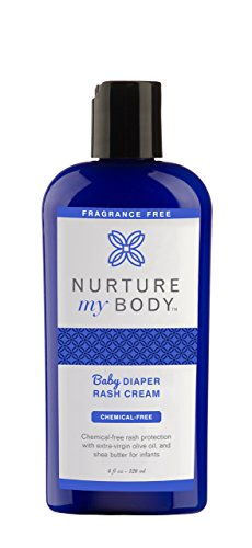 Nurture My Body Organic Diaper Rash Cream - 100% Natural - Soothes and Prevents Diaper Rash - Simple Formulation with 4 Certified Organic Ingredients (Fragrance Free)