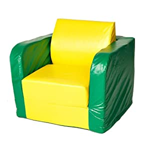 Foamnasium Juvenile Pullout Chair, Yellow/Green