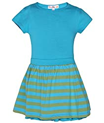 Chipchop Girls' Dress (WFGD0038B_Light Green_6-7 Years)