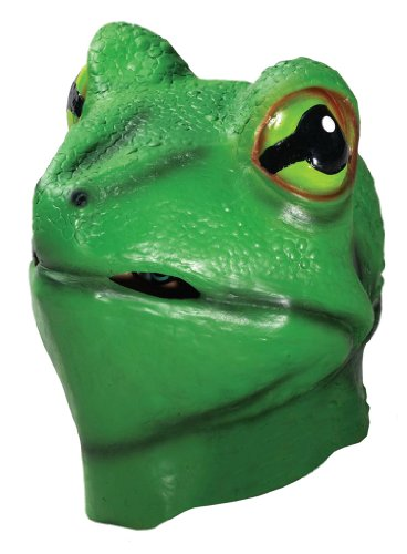 LATEX ANIMAL MASK FROG