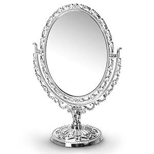 Relaxdays Kosmetikspiegel im Antik-Design oval
