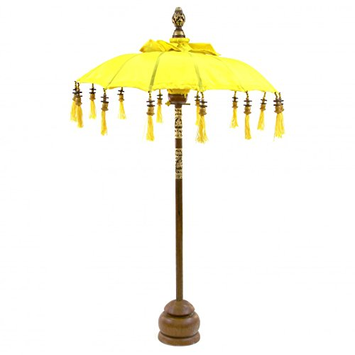 Koyal Wholesale Tabletop Bali Umbrella, 34-Inch, Yellow front-1052784
