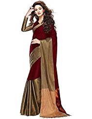 SRP Fashion Selection Red Colour Cotton Silk Saree