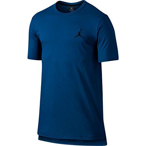 Nike Core S/S Long Top T-Shirt, French Blue/Black, M