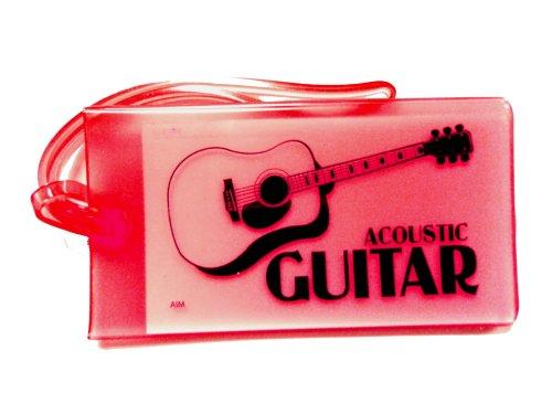 ミュージックIDバックタグ(アコースティックギター)オレンジ