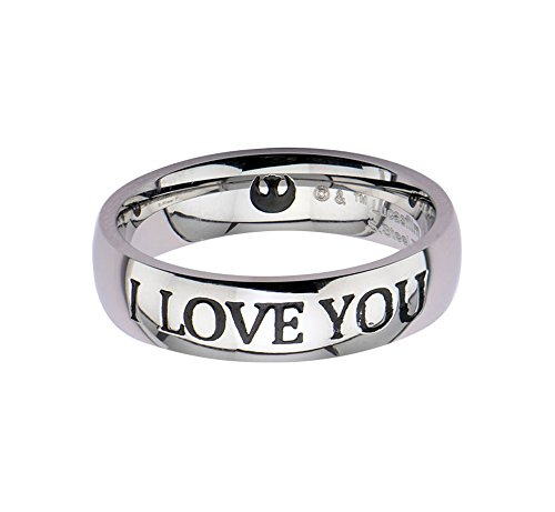 Star Wars I love You acciaio Inossidabile anello, Acciaio inossidabile, 7, cod. 839546005978
