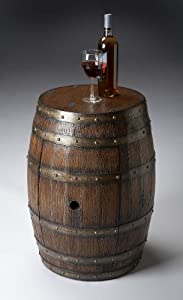 Butler Specialty Barrel Table in Mountain Lodge