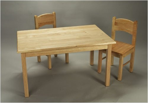 Rect Table & 2 Chair Set-Natural