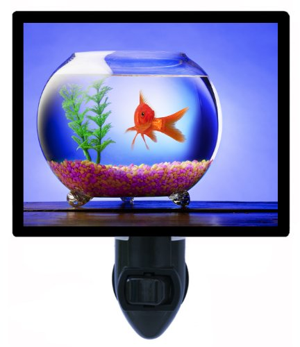Goldfish Night Light - Charlie - Fish And Fishbowl Led Night Light front-1026775