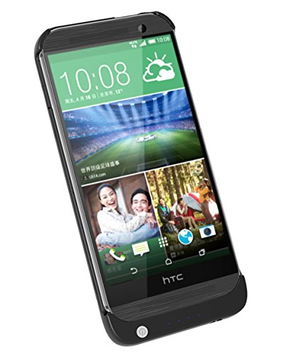 2600Mah Portable Backup External Rechargeable Battery Power Bank Charger Case For Htc One M8 (Black)