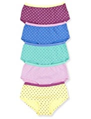 5 Pack Cotton Rich Heart Print Shorts