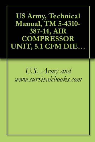 US Army, Technical Manual, TM 5-4310-387-14, AIR COMPRESSOR UNIT, 5.1 CFM DIESEL ENGINE DRIVEN MODEL KA7-DA, (NSN 4310-01-220-7262), military manauals, special forces
