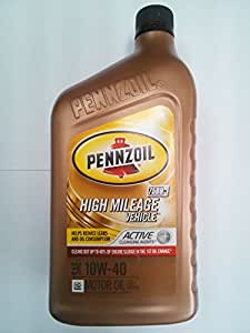 Pennzoil 550022829 high mileage vehicle 10w40 for Pennzoil high mileage motor oil