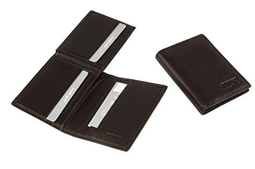 Mini portafoglio uomo SOLO SOPRANI moro in pelle porta carte di credito A4489