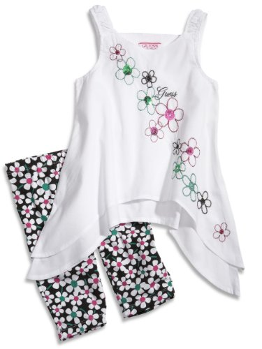 GUESS Kids Girls Little Girl Embroidered Top