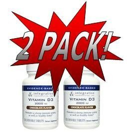 ITI Integrative Therapeutics - Vitamin D3 2000 UI (120 Chewables) 2 Pack (VITD3)