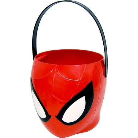 [Spiderman Halloween Candy Pail - 3D Figural Plastic Bucket] (Mickey Mouse Halloween Costumes For Men)