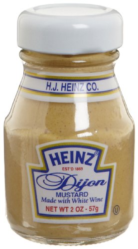 Heinz Dijon Mustard, 2-Ounce Glass Jars (Pack of 60)