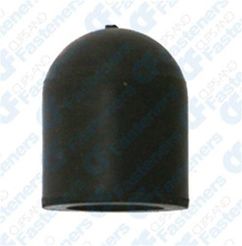 10 Rubber Vacuum Caps Black For 1/2