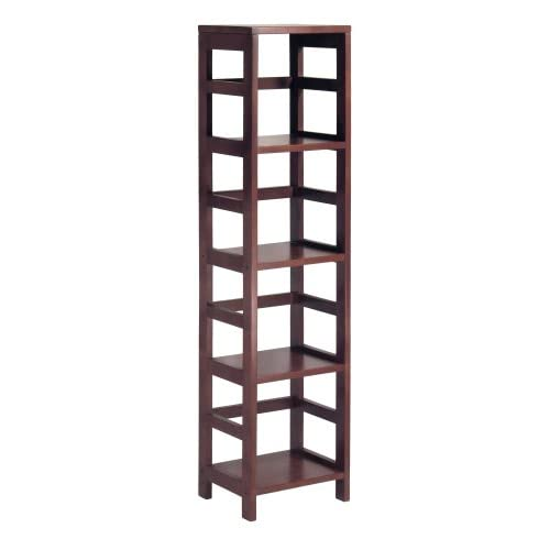 winsome wood 4 shelf narrow shelving unit