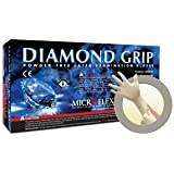 Diamond Grip Latex Gloves Medium Case