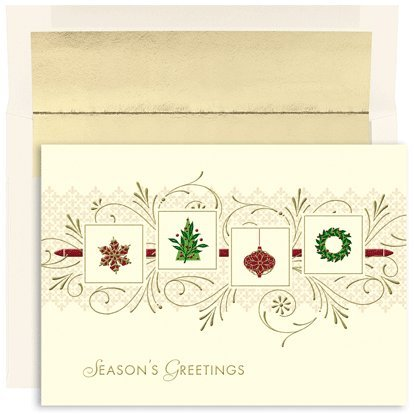 Holiday Icon Garland Boxed Holiday Cards