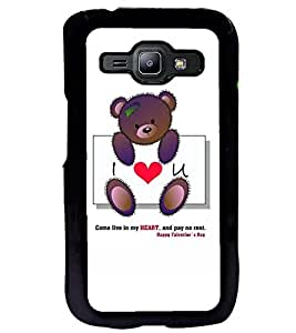 Printvisa Teddybear Love Quote Back Case Cover for Samsung Galaxy J1::Samsung Galaxy J1 J100F