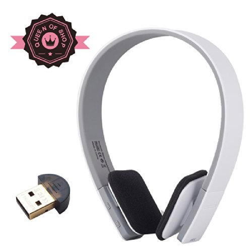 Bq618 White Bluetooth Headphones - Built In Microphone - High Quality Sound - Perfect Fit Sleek Design